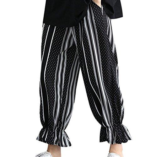 Dimensioni Nove Vita Caviglia Donne Strisce Abbigliamento e Elastica Elastico Strisce Grandi Donna SOMESUN Con Nero Alta In Di Pantaloni Sciolte Alla Pantaloni Vita e Da UxgwzqdnA