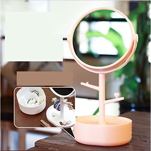 6Inch double-sided tabletop makeup mirror/ cute Princess vanity mirror/ creative circle mirror/ three times times magnifying-C good
