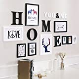 Home@Wall photo frame Decorative Photo Frames ,9 Pcs/sets Collage Photo Frame Set,Vintage Picture Frames,Family Picture Frame Wall DIY Photo Frame Sets For Wall ( Color : D , Size : 9frames/16383cm )
