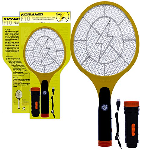 Koramzi Electric Mosquito Swatter/Bug Zapper With Rechargable Battery