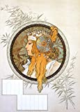 Byzantine Heads (blonde) Vintage Poster (artist: Mucha, Alphonse) France c. 1897 (9x12 Art Print, Wall Decor Travel Poster)