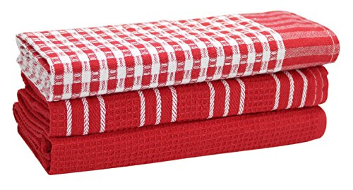 Red And White Kitchen Towels - 3