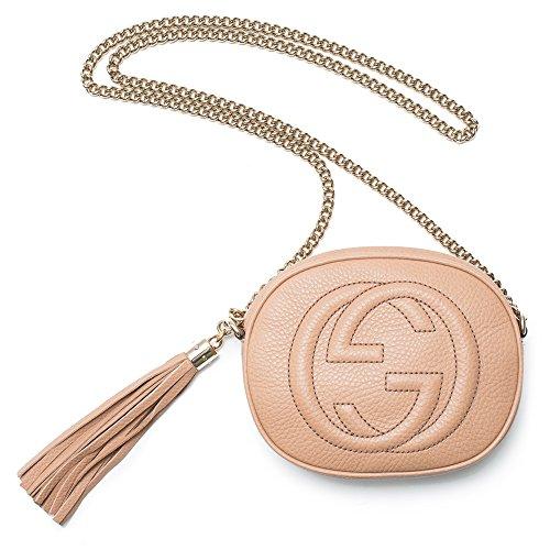 Gucci Soho Mini Chain Crossbody Mustard Leather Bag Handbag