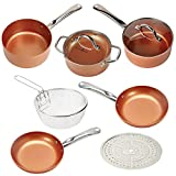 Copper Chef 9 Piece Round Set