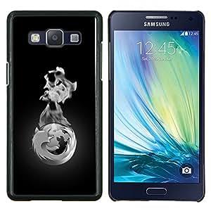 Jordan Colourful Shop - cool monochrome fox earth fire black white For Samsung Galaxy A5 A5000 A5009 Personalizado negro cubierta de la caja de pl????stico