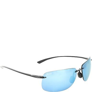 cdd8285baa2 Hobie Eyewear Rips Sunglasses (Satin Black Frame Grey Cobalt Mirror  Polarized
