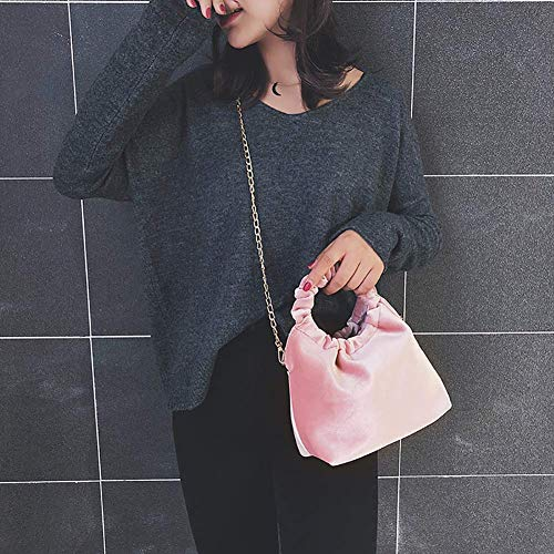 rosa Borsa blu tracolla tinta tracolla in vintage in telefono colore per nero metallo Home unita Meidi velluto con Hq5TPaw