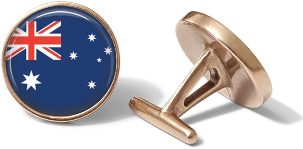 Australian Flag Cufflinks Solid Bronze