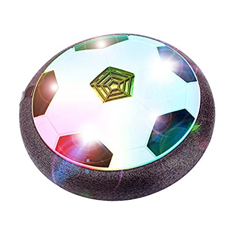 BONAOK Cool Air Power Soccer - Kids Disk Hover Ball Equipped With LED Lights, Sports Toys With Foam Bumpers,Indoor or Outdoor - Power Air Hockey