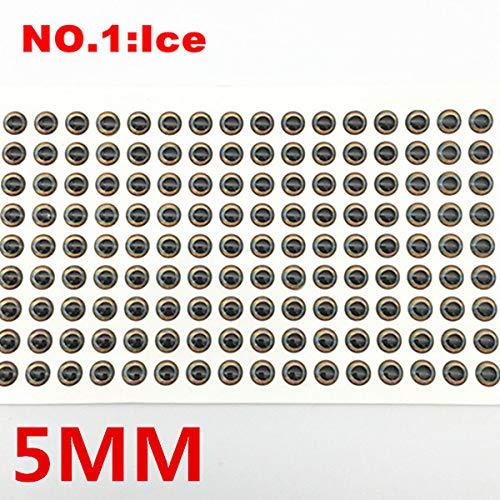 Fischk/öder Augen DIY 4D Fischen Fischaugen Fliegenbinden Lure Material Herstellungs Holographic Fliegenbinden 5mm HATCHMATIC 100Pcs