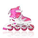 Tuko Children Adjustable Inline Skate Roler Shoes for Girl Gift (Medium/Big kids 2M/3M/4M)