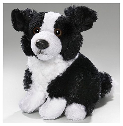 Carl Dick Border Collie sitting, 6 inches, 15cm, Plush Toy, Soft Toy, Stuffed Animal (Border Collie Plush)