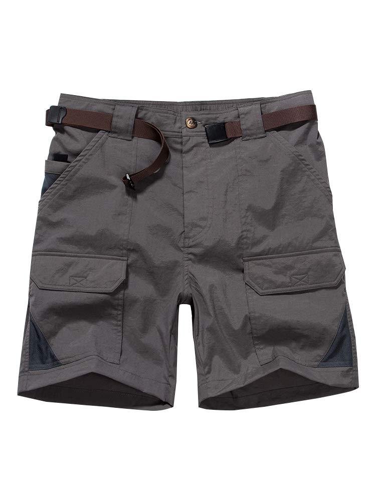 Toomett Men's Outdoor Lightweight Hiking Shorts Quick Dry Shorts Sports Casual Shorts 6018,Dark Grey,US 30 by Toomett