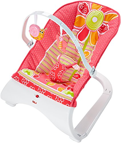 Snail Rocker (Fisher-Price Comfort Curve Bouncer, Floral Confetti)