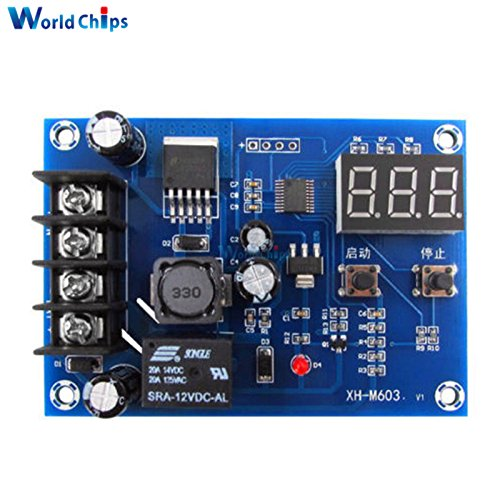 XH-M603 Charging Control Module 12-24V Storage Lithium Battery Charger Control Switch Protection Board With LED Display by Aigh Auality shop
