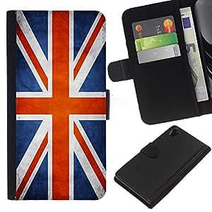 Be-Star la tarjeta de Cr¨¦dito Slots PU Funda de cuero Monedero caso cubierta de piel Para Sony Xperia Z2 D6502 ( Bandera Nacional de la Serie-Gran Breta?a )