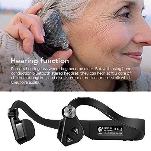 Docooler® Botla BTL-G001 Bone Conduction Headset Wireless Bluetooth 4.1 Earphone Outdoor Sports Headphone Hands-free with Mic Black-Blue