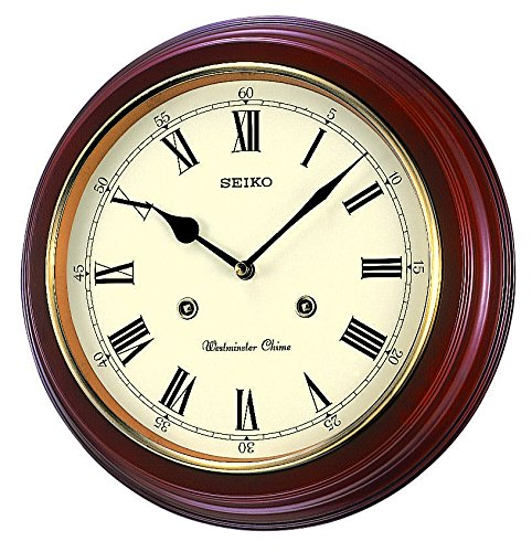 Seiko Station Clock QXH202B RRP: 31.4 x 31.4 x 6.1cm * Westminster chime * On/off switch * Alder case