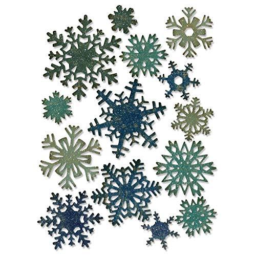 (Sizzix Thinlits Die Set, Paper Snowflakes, Mini by Tim Holtz, 14 Pack)