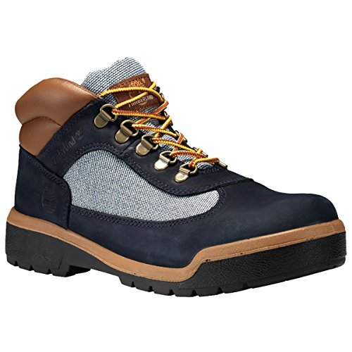 (Timberland Men's Dark Navy Nubuck Leather Field Boots (7))