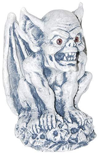Needzo Halloween Plastic Gray Gargoyle Figurine Decor, 7 1/4 Inch, Pack of ()