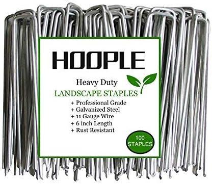Hoople 100 Pack Heavy Duty U Shaped Securing