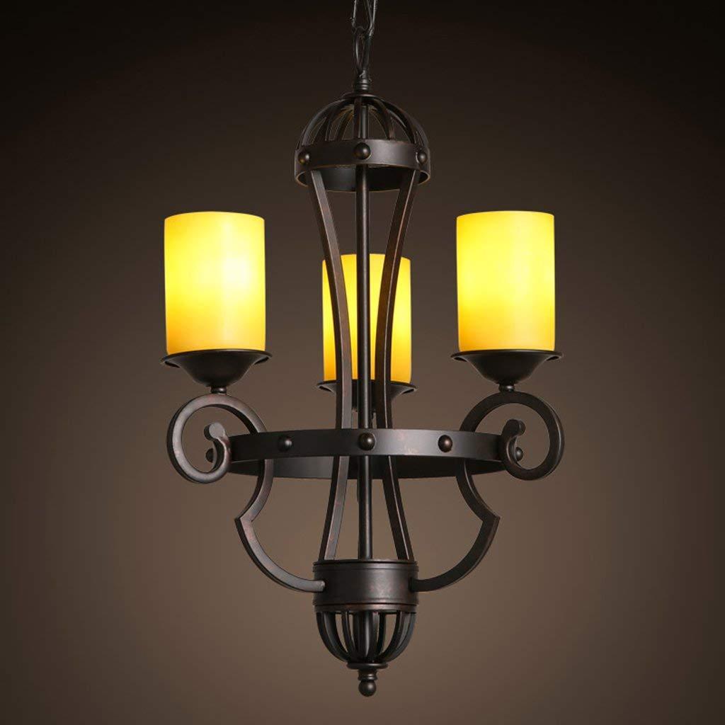 TJZY Novely Chandeliers-Chandelier Made of Iron and Glass Living Room Restaurant Bar Cafe Pendant Light E273 35 65Cm, Creative Decorative Lighting