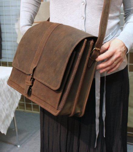Freiherr von Maltzahn, Borsa a tracolla donna marrone 40 cm