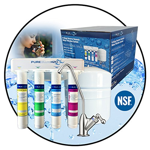 PURE BLUE H2O 4-STAGE REVERSE OSMOSIS HOME DRINKING WATER SYSTEM