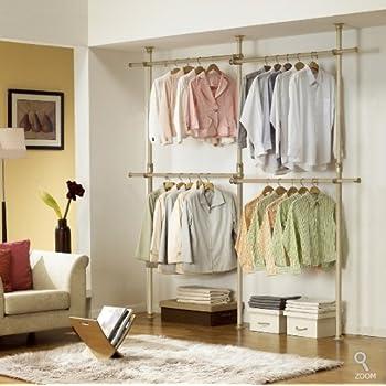 Exceptional Premium Wood Double 2 Tier Hanger | Clothing Rack | Closet Organizer