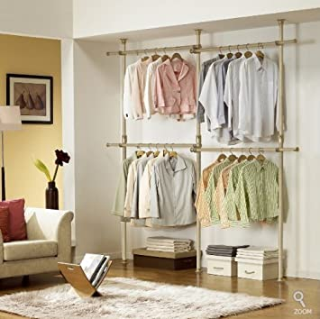 Captivating Premium Wood Double 2 Tier Hanger | Clothing Rack | Closet Organizer