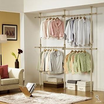 Premium Wood Double 2 Tier Hanger | Clothing Rack | Closet Organizer