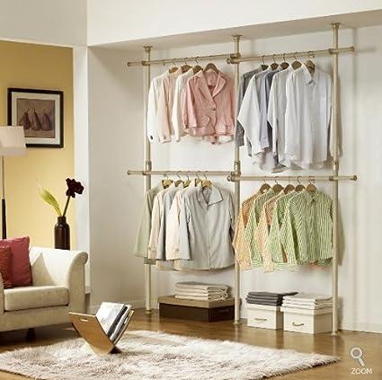 Etonnant Premium Wood Double 2 Tier Hanger | Clothing Rack | Closet Organizer
