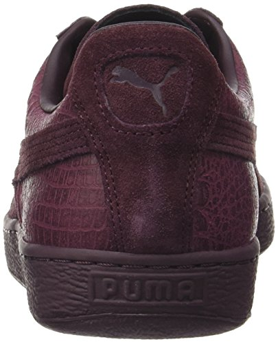 Puma Unisex-erwachsene Ruskind Classic Afslappet Emboss Sneaker Rød (vinsmagning) J9McWd