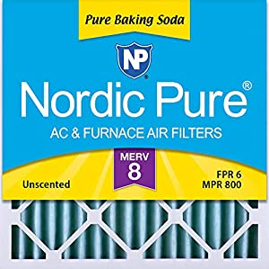 Nordic Pure 24x24x2 Pure Baking Soda Odor Deodorizing AC Furnace Air Filters, 3 PACK, 3 Piece