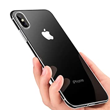 omitium Carcasa iPhone X, Funda iPhone X Crystal Carcasa iPhone X Bumper Caso Ultra Fina Anti-Rasguño Slim Silicona Protectora Caso para iPhone X ...