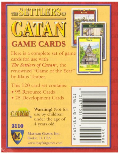 Mayfair Games Replacement Card Set Settlers of Catan