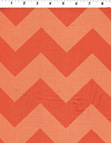 Riley Blake Large Chevron Tone on Tone Orange Fabric