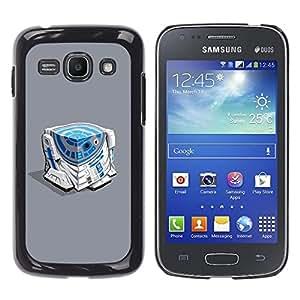 For Samsung Galaxy Ace 3 III / GT-S7270 / GT-S7275 / GT-S7272 Case , Character Blue White Beeping Movie - Diseño Patrón Teléfono Caso Cubierta Case Bumper Duro Protección Case Cover Funda