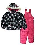 Hello Kitty Little Girls 2pc Printed Snowsuit (5, Black/Fuchsia)