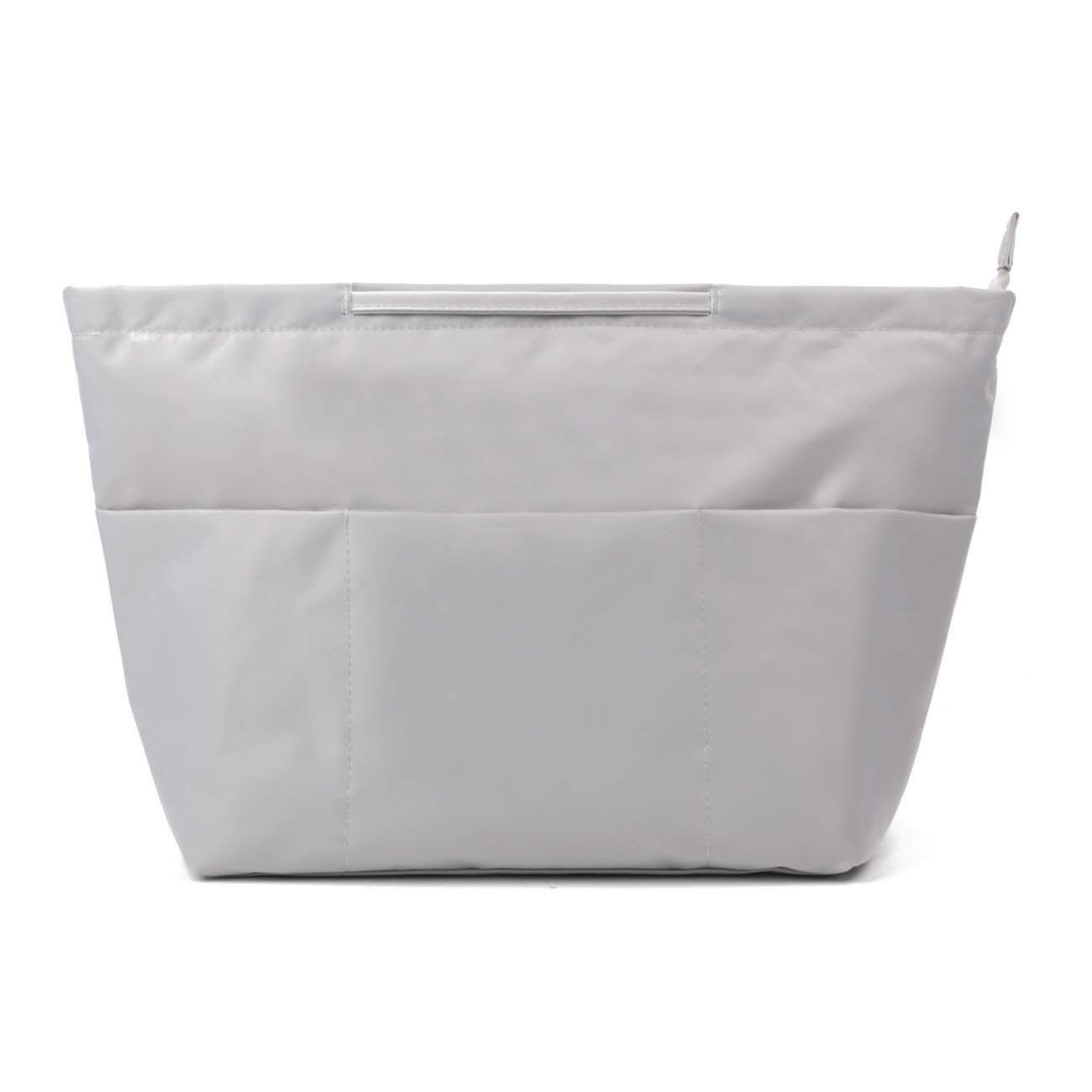 Multi-Pocket Travel Bag in Bag Insert Organizer for Tote Purse Handbag Liner with Handle (Large, Grey)