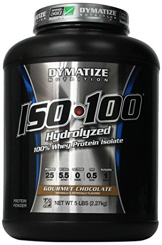 Dymatize ISO 100 Whey Protein Powder Isolate, Gourmet Chocolate, 5 lbs
