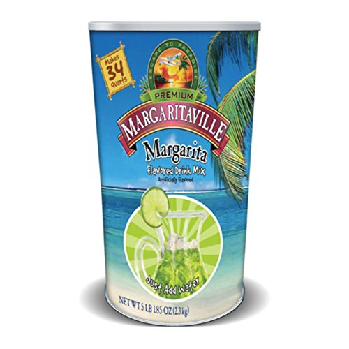 Margaritaville Margarita Flavored Water Drink Mix Canister (5 Pound, Makes 34 Quarts)