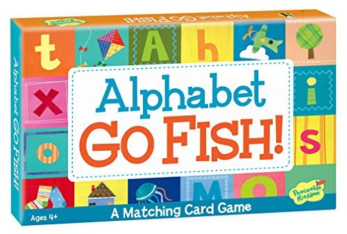 Peaceable Kingdom Alphabet Go Fish Letter Matching Card Game - 52 Cards with Box (A Bird With 7 Letters In Its Name)