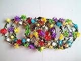 Grab Bag : Set of 5 Mix Color Mini Flower Crown Headband /Halo/coachella /Edc /Hippie Flower Headband /Garden Party / Wedding