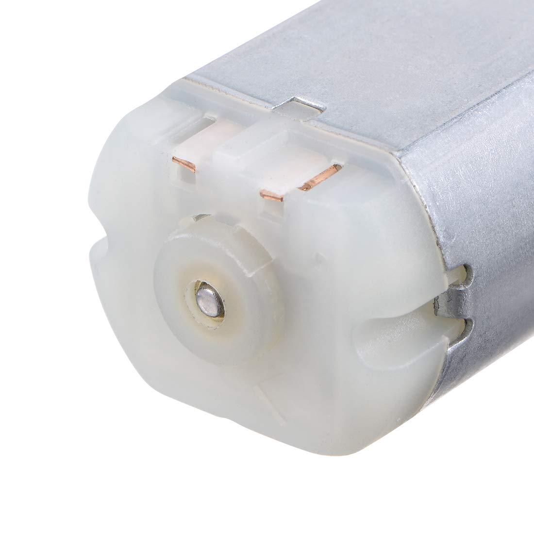 2Pcs Para El Modelo De Juguetes sourcing map Dc 12V 15000 Rpm 7.5mmx8mm Eje De Motor Dc