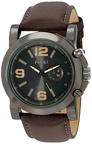 Folio Men's FMDMSG044 Analog Display Quartz Brown Watch - Folio Watch