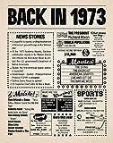 8x10 1973 Birthday Gift // Back in 1973 Newspaper