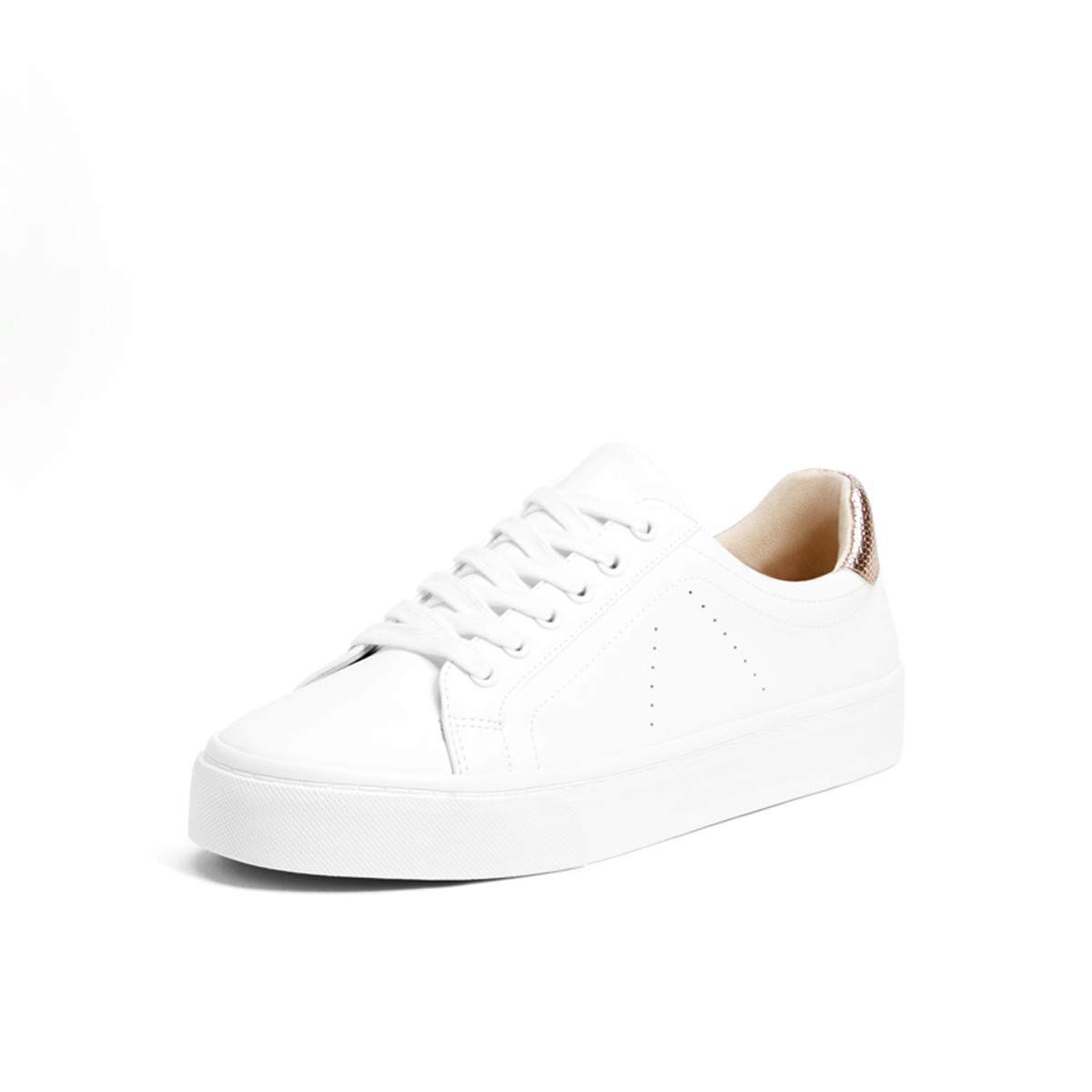 blanc Thirty-six SFSYDDY Chaussures Populaires des Chaussures De Femme Nouveau Style Loisirs Lace des Chaussures Plates