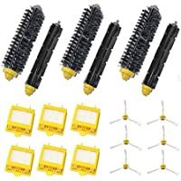 LOVE(TM)Replacement 6x HEPA Filter + Side Brush Kit +3 Bristle and Flexible Beater Brush for Robot 700 Series 770 780 790
